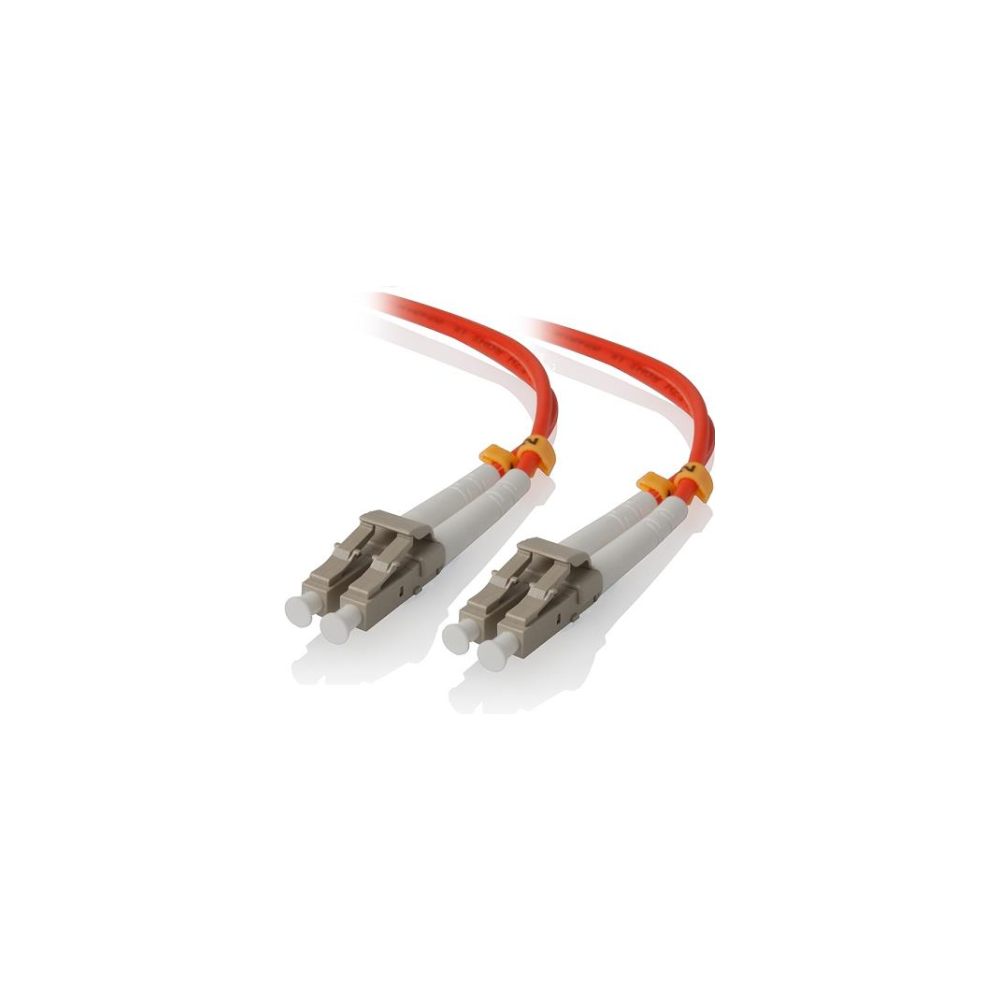 A large main feature product image of ALOGIC 3m LCLC Multi Mode Duplex LSZH Fibre Cable 62.5/125 OM1