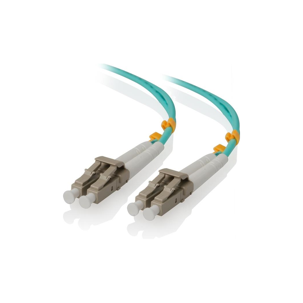 A large main feature product image of ALOGIC 50m LCLC 10G Multi Mode Duplex LSZH Fibre Cable 50/125 OM3