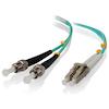 A product image of ALOGIC 2m LCST 10G Multi Mode Duplex LSZH Fibre Cable 50/125 OM3
