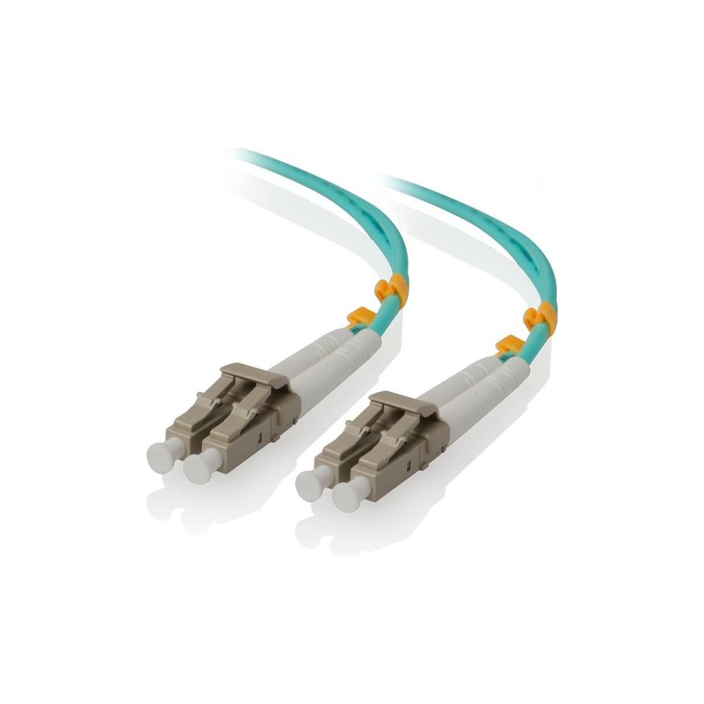 A large main feature product image of ALOGIC 0.5m LCLC 40G/100G Multi Mode Duplex LSZH Fibre Cable 50/125 OM4