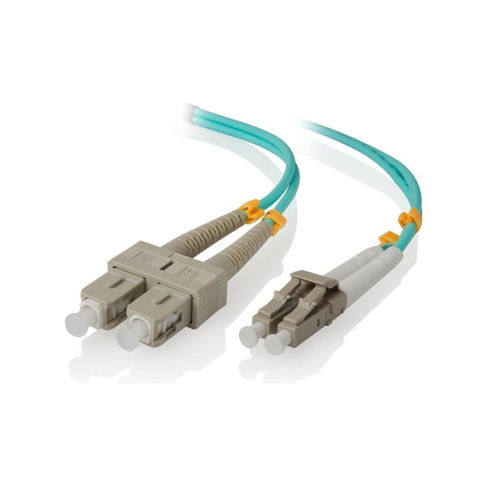 A large main feature product image of ALOGIC 1m LCSC 40G/100G Multi Mode Duplex LSZH Fibre Cable 50/125 OM4