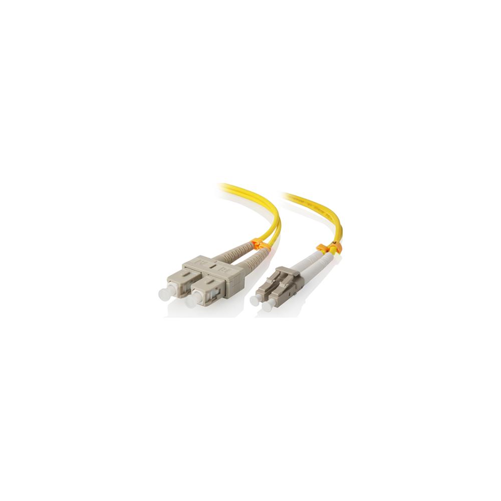 A large main feature product image of ALOGIC 1m LCSC Single Mode Duplex LSZH Fibre Cable 09/125 OS2