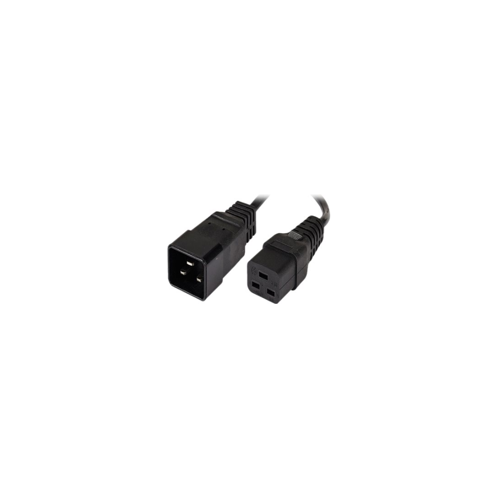A large main feature product image of ALOGIC 3m IEC C19 to IEC C20 Power Extension Male to Female Cable