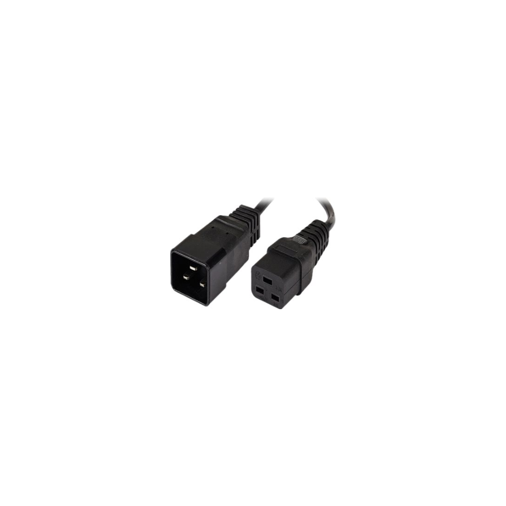 A large main feature product image of ALOGIC 1m IEC C19 to IEC C20 Power Extension Male to Female Cable
