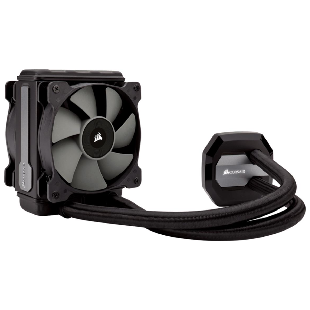 A large main feature product image of Corsair Hydro Series H80i V2 AIO Liquid CPU Cooler