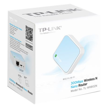 Product image of TP-LINK WR802N 300Mbps Wireless Portable Router - Click for product page of TP-LINK WR802N 300Mbps Wireless Portable Router