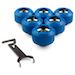 PrimoChill 1/2 Rigid RevolverSX Series Fitting – Sky Blue – 6 Pack