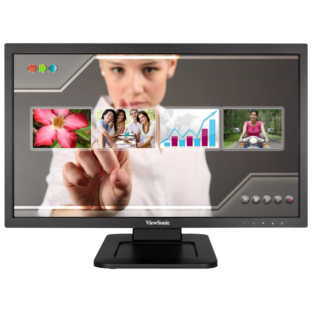 "A large main feature product image of ViewSonic TD2220 21.5"" Full HD 5MS LED Touch Screen Monitor"