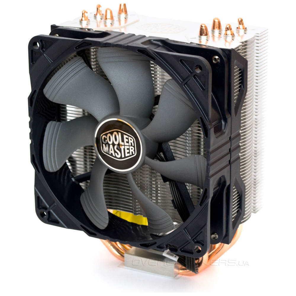 A large main feature product image of Cooler Master Hyper 212 X CPU Cooler