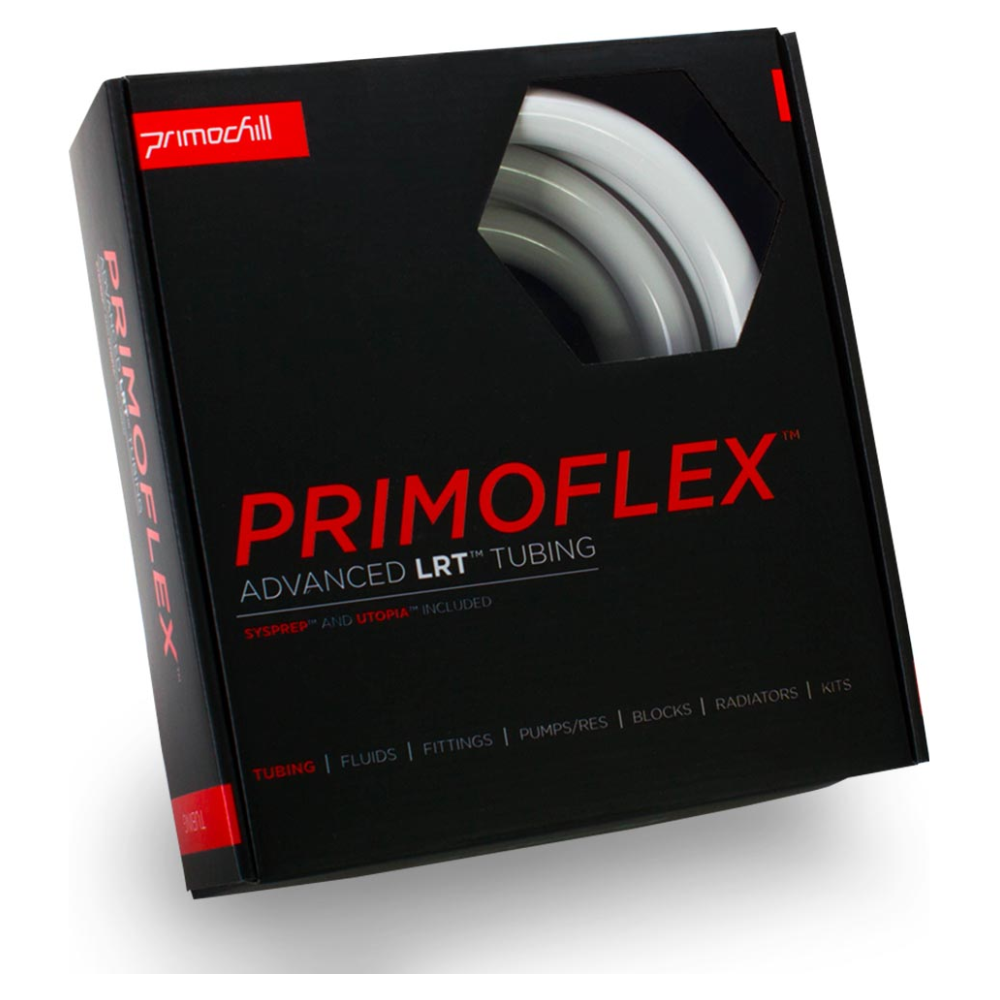 """A large main feature product image of PrimoChill PrimoFlex Advanced LRT 13mm (1/2"""") ID, 19mm (3/4"""") OD 10ft Pack Elegant White Tubing"""