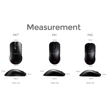 Product image of BenQ ZOWIE FK1+ X-Large Ambidextrous Gaming Mouse - Click for product page of BenQ ZOWIE FK1+ X-Large Ambidextrous Gaming Mouse