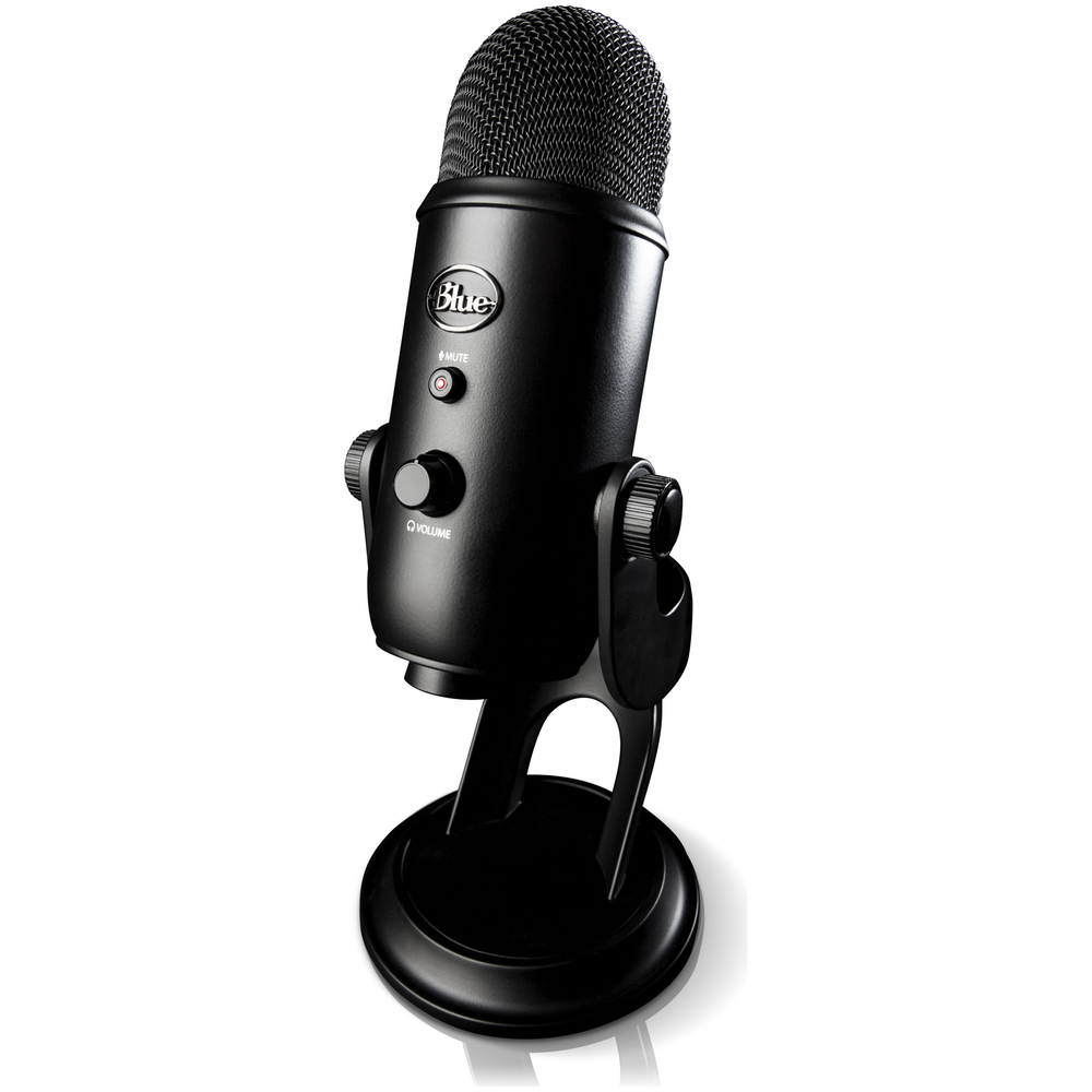 A large main feature product image of Blue Microphones Yeti 'Blackout' USB Desktop Microphone