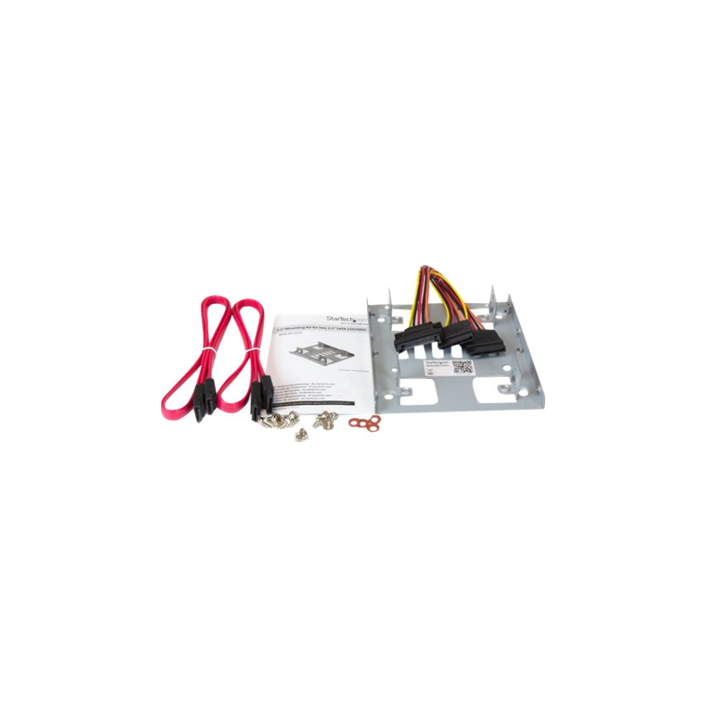 """A large main feature product image of Startech Dual 2.5"""" SATA HDD to 3.5"""" Mount Bracket"""