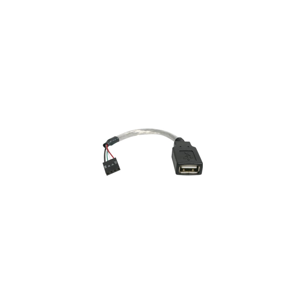 A large main feature product image of Startech USBMBADAPT USB A to USB 4 Pin Header 15cm Cable