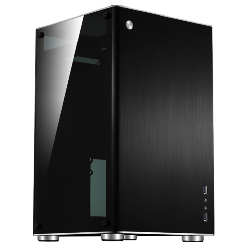 Jonsbo Vr1 Black Mitx Case W Tempered Glass Side Panel