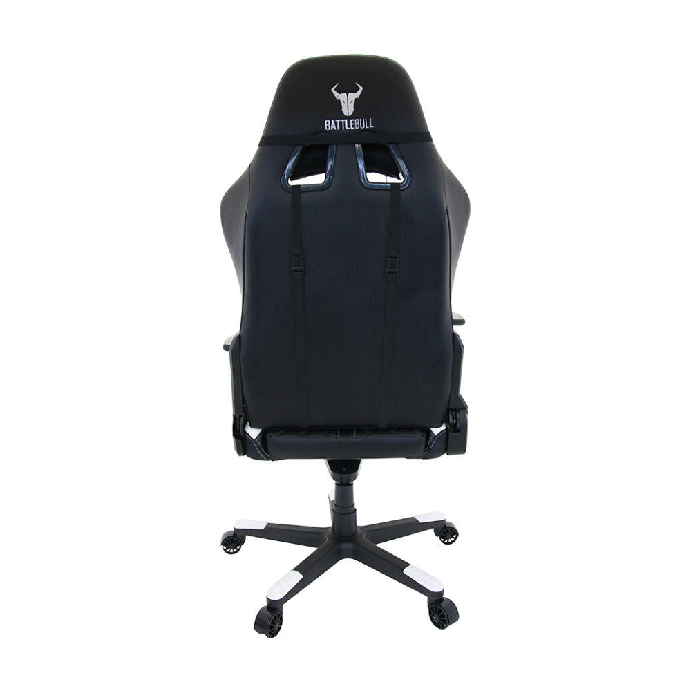 A large main feature product image of BattleBull Crosshair Gaming Chair Black/White
