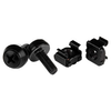 A product image of Startech M5 x 12mm - Screws and Cage Nuts - 100 Pack - Black