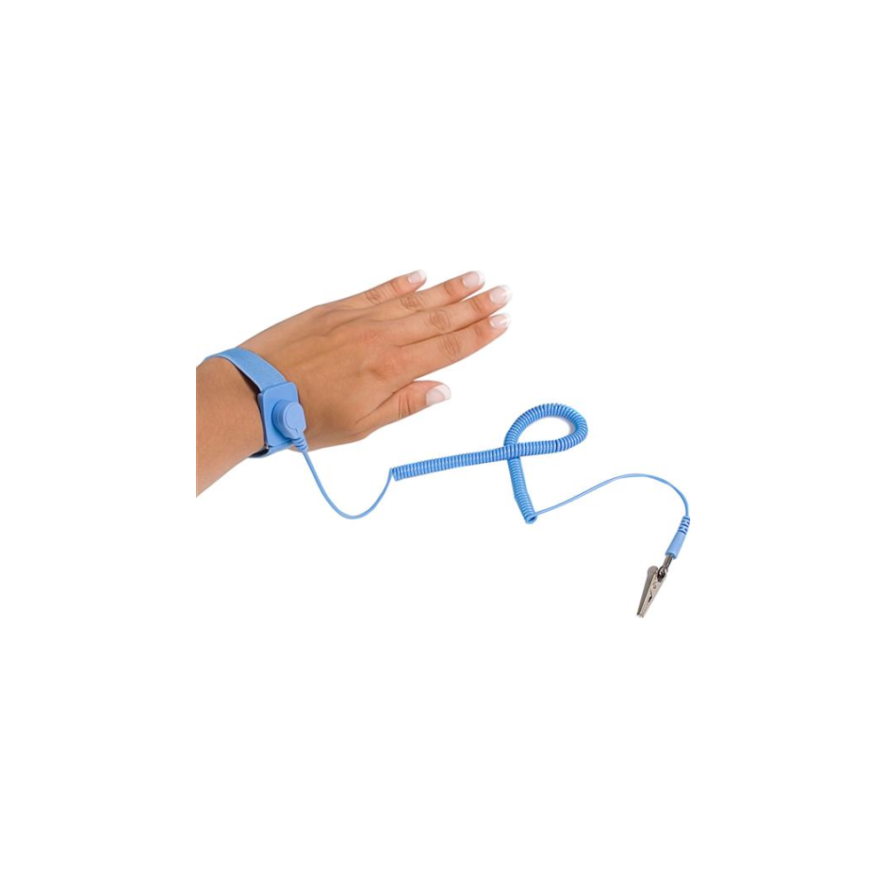 A large main feature product image of Startech ESD Anti Static Wrist Strap Band with Grounding Wire