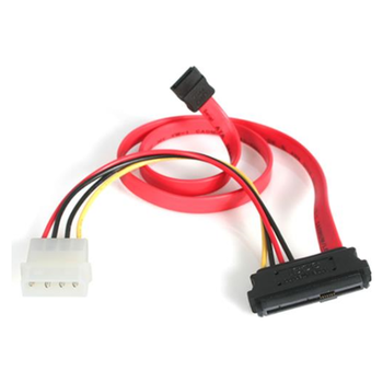 Product image of Startech 18in SAS 29 Pin to SATA Cable with LP4 Power - Click for product page of Startech 18in SAS 29 Pin to SATA Cable with LP4 Power