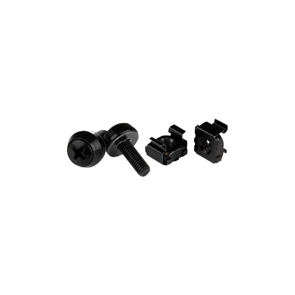 A large main feature product image of Startech M5 x 12mm - Screws and Cage Nuts - 100 Pack - Black