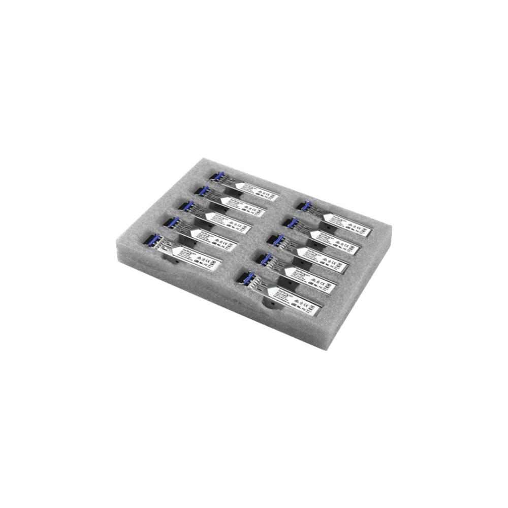 A large main feature product image of Startech Gigabit Fiber SFP - 10 Pack - Cisco GLC-LH-SM Compatible