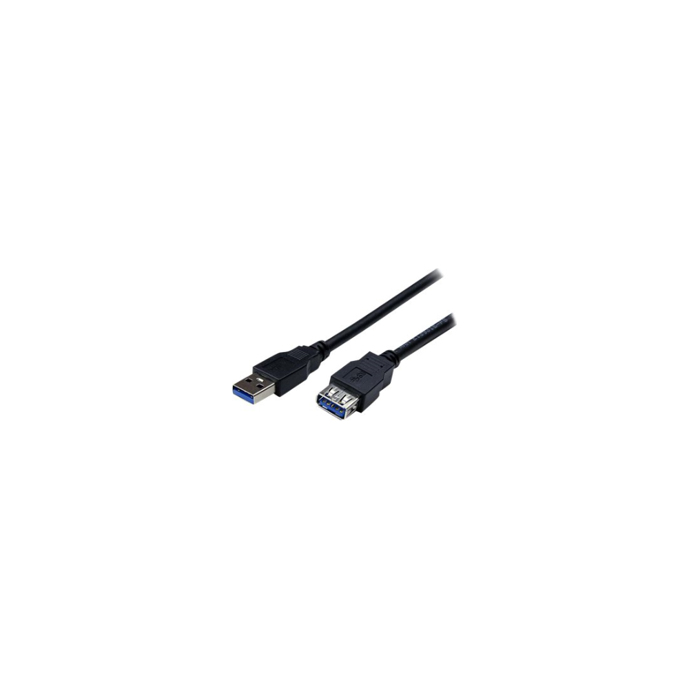 A large main feature product image of Startech 2m Black USB 3.0 Male to Female USB 3.0 Extension Cable A-A