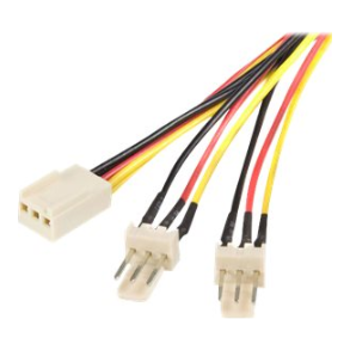 Product image of Startech 12in TX3 Fan Power Splitter Cable - Click for product page of Startech 12in TX3 Fan Power Splitter Cable