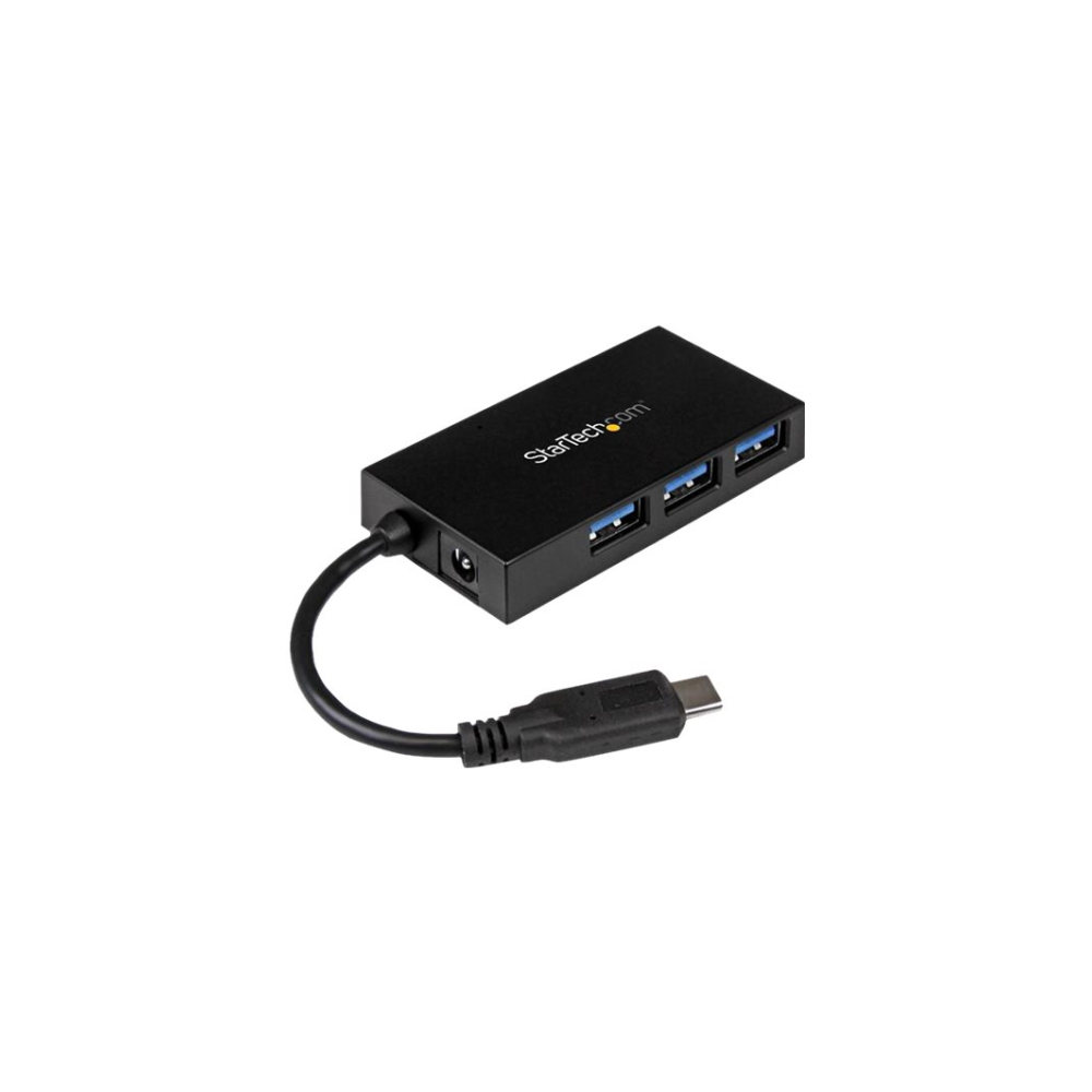 A large main feature product image of Startech 4 Port USB Type-C Hub - USB 3.1 Gen 1 Hub with Power Adapter