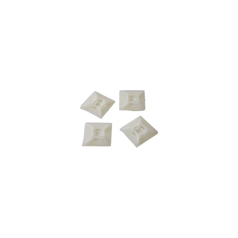 A large main feature product image of Startech Self-adhesive Nylon Cable Tie Mounts - Pkg of 100