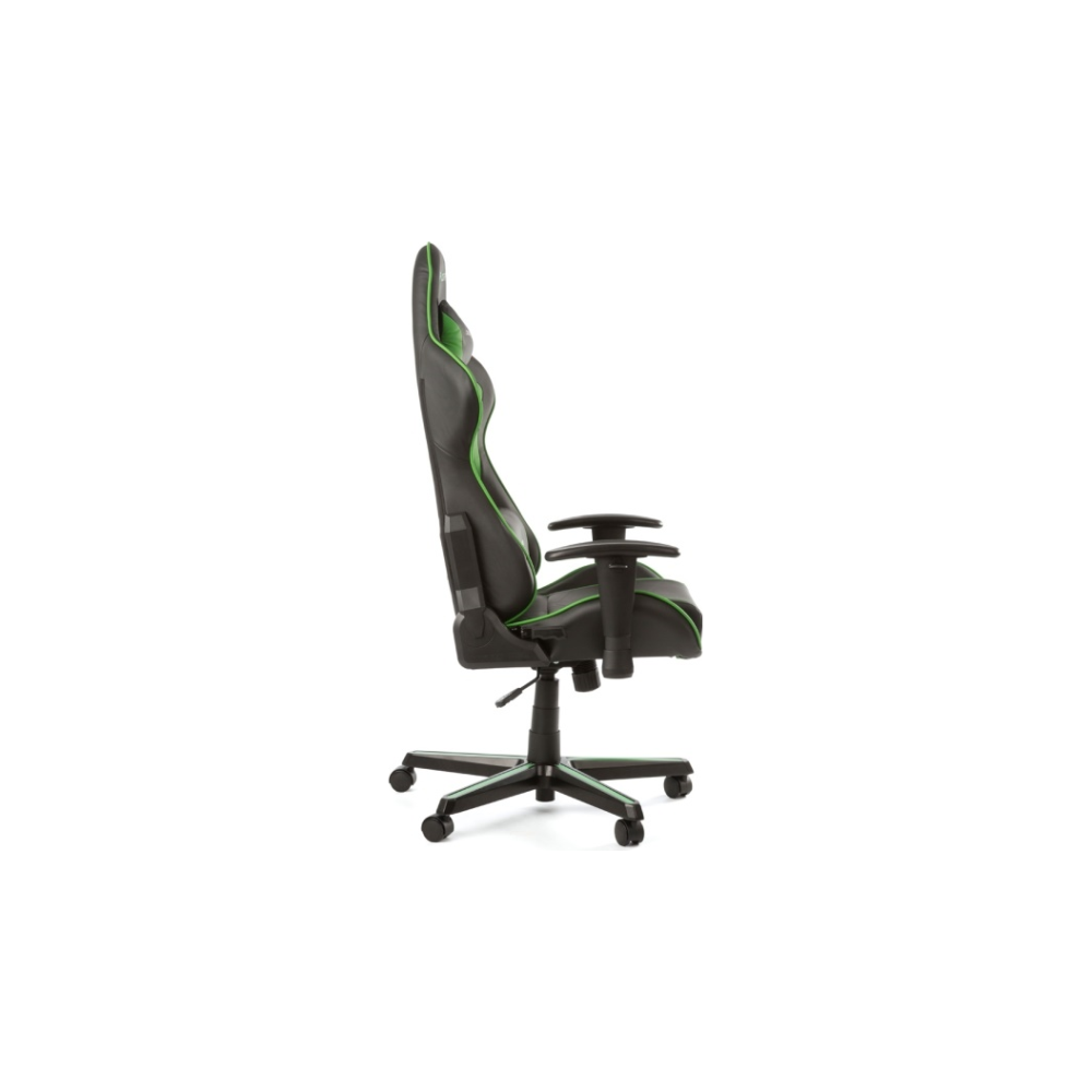 A large main feature product image of DXRacer F Series PC Gaming Chair - Black & Green w/ Lumbar Support