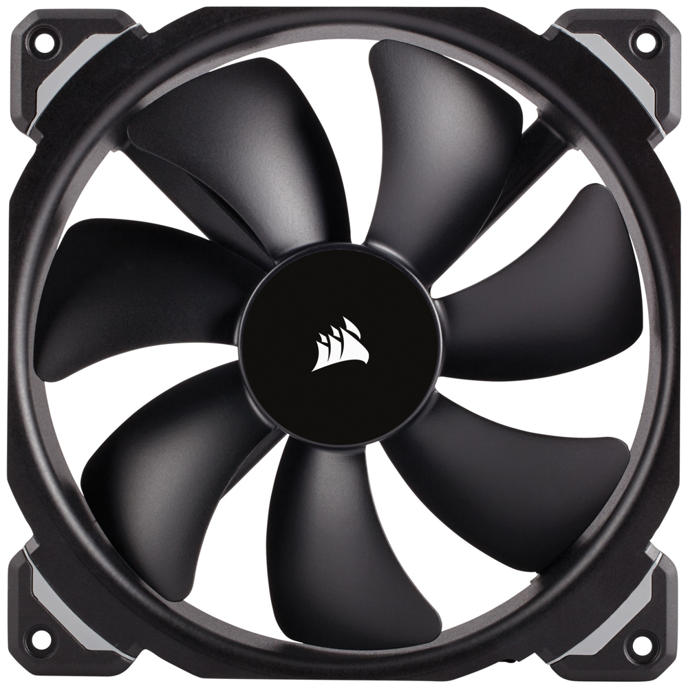A large main feature product image of Corsair ML120 Pro 120mm Mag-Lev Cooling Fan