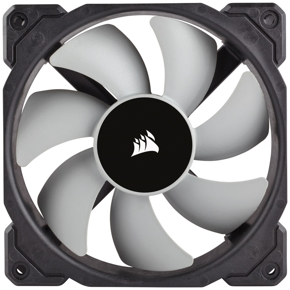 A large main feature product image of Corsair ML120 120mm Mag-Lev Cooling Fan Twin Pack
