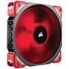 A product image of Corsair ML120 Pro 120mm Mag-Lev Red LED Cooling Fan