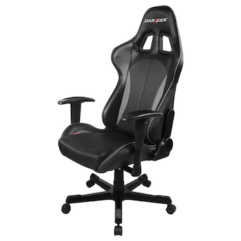 Product image of DXRacer F Series PC Gaming Chair - Black & Carbon Grey w/ Lumbar Support - Click for product page of DXRacer F Series PC Gaming Chair - Black & Carbon Grey w/ Lumbar Support