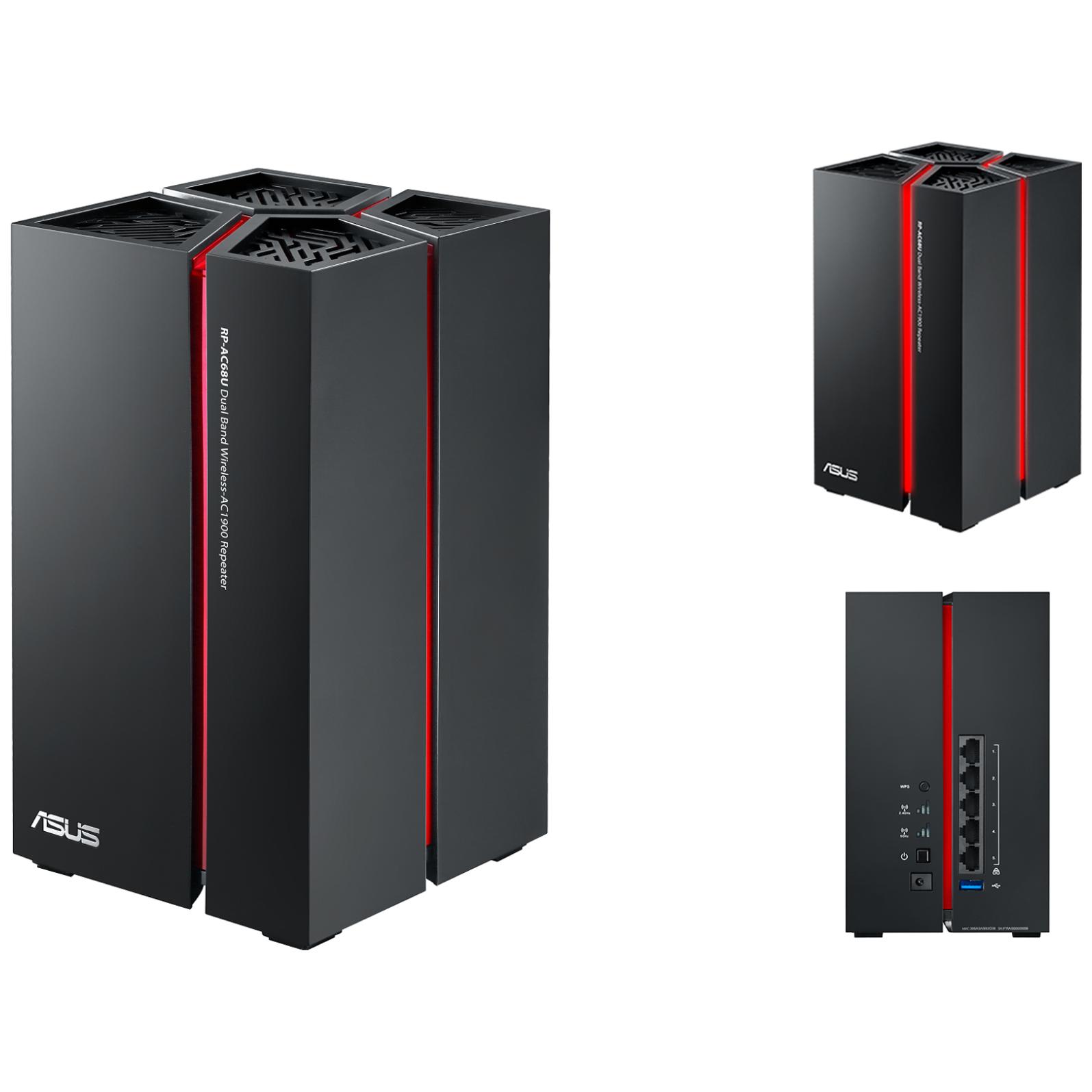 asus rp ac68u dual band wireless ac1900 range extender rp ac68u ple computers. Black Bedroom Furniture Sets. Home Design Ideas