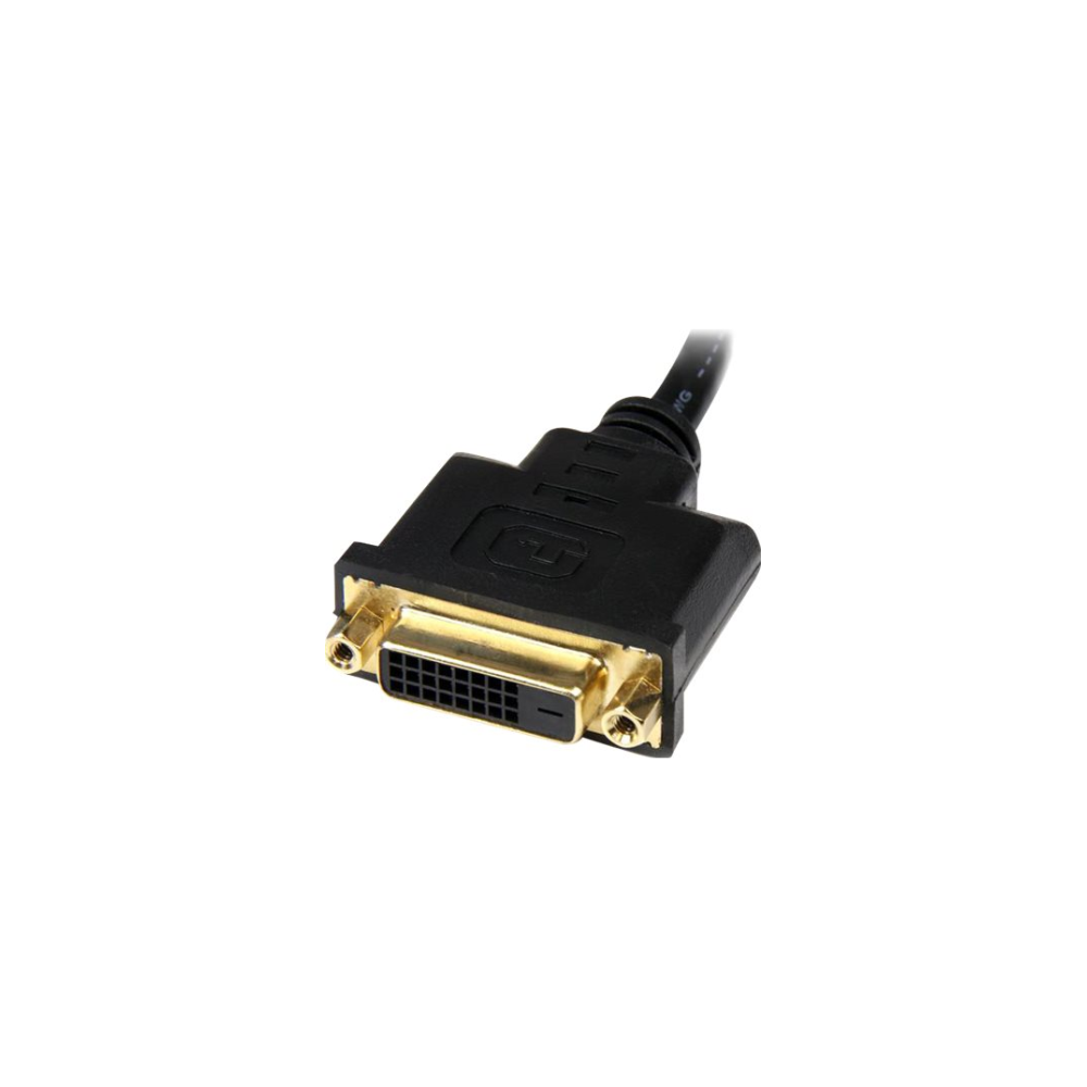 A large main feature product image of Startech HDMI to DVI-D Video 20cm Cable Adapter - M/F