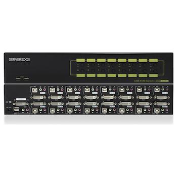 Product image of Serveredge 16-Port DVI USB KVM Combo Switch with Audio Mic & USB Hub 2.0 - Click for product page of Serveredge 16-Port DVI USB KVM Combo Switch with Audio Mic & USB Hub 2.0