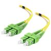 A product image of ALOGIC 1m SCASCA Single Mode Duplex LSZH Fibre Cable 09/125 OS2