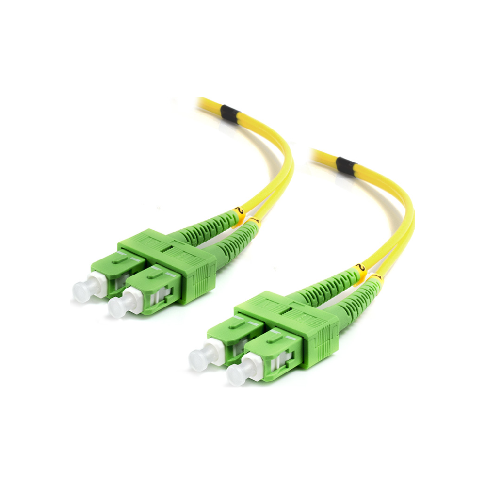 A large main feature product image of ALOGIC 1m SCASCA Single Mode Duplex LSZH Fibre Cable 09/125 OS2