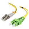 A product image of ALOGIC 0.5m SCALC Single Mode Duplex LSZH Fibre Cable 09/125 OS2