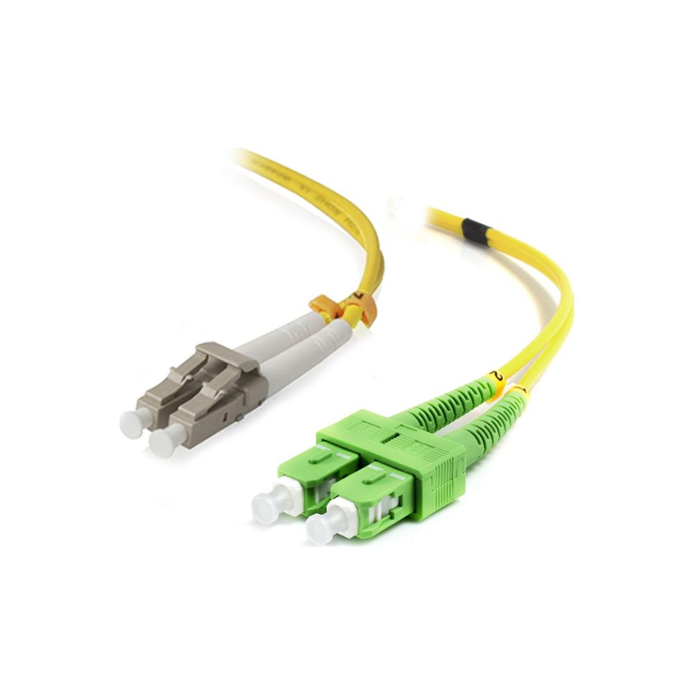 A large main feature product image of ALOGIC 1m SCALC Single Mode Duplex LSZH Fibre Cable 09/125 OS2