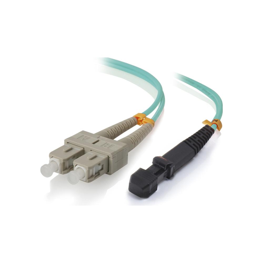 A large main feature product image of ALOGIC 10m MTRJSC 10G Multimode Duplex LSZH Fibre Cable 50/125 OM3