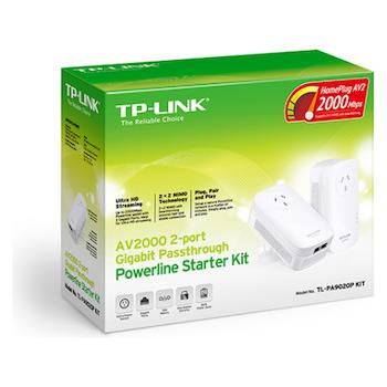 Product image of TP-LINK AV2000 2-Port Gigabit Powerline Kit - Click for product page of TP-LINK AV2000 2-Port Gigabit Powerline Kit