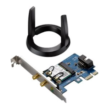 Product image of ASUS PCE-AC55BT 802.11ac Dual-Band Wireless-AC1200 PCIe Adapter with Bluetooth - Click for product page of ASUS PCE-AC55BT 802.11ac Dual-Band Wireless-AC1200 PCIe Adapter with Bluetooth