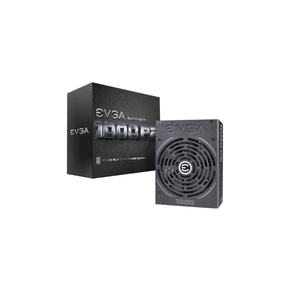 A large main feature product image of eVGA SuperNOVA P2 1000W 80PLUS Platinum Power Supply