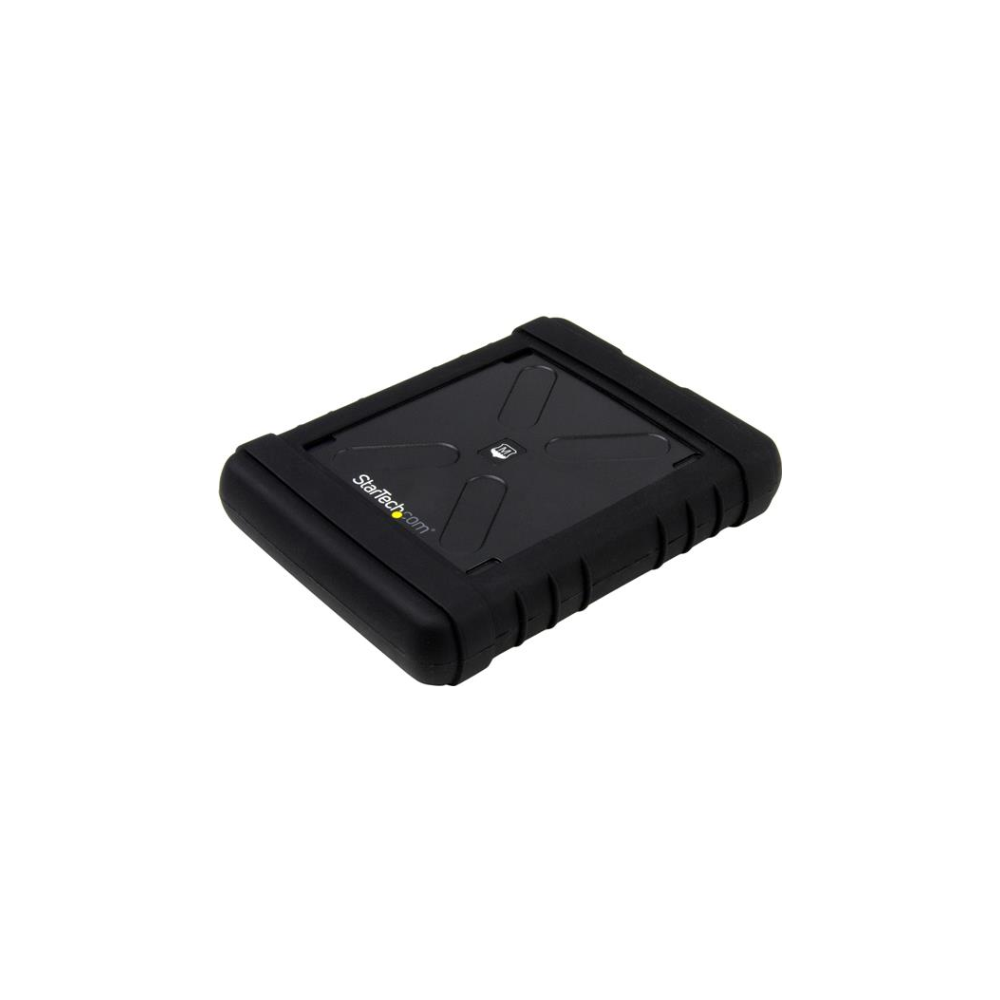 A large main feature product image of Startech USB3.0 to 2.5in SATA 6Gbps rugged drive enclosure