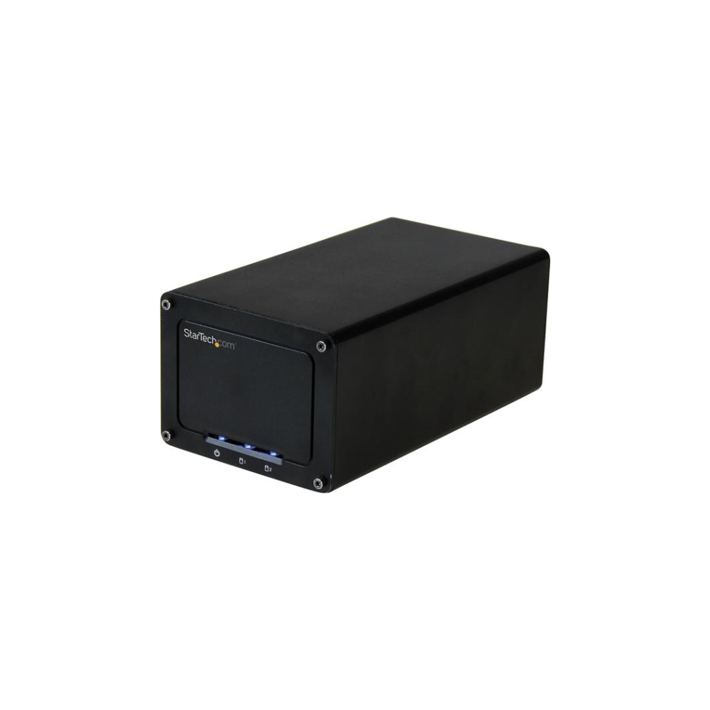 "A large main feature product image of Startech 2-Drive External Enclosure for 2.5"" SSD/HDDs - USB 3.1"