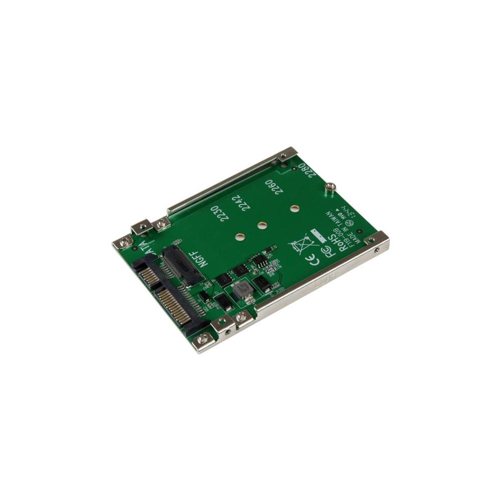 A large main feature product image of Startech M.2 SSD to 2.5in SATA Adapter - NGFF SSD to SATA Converter