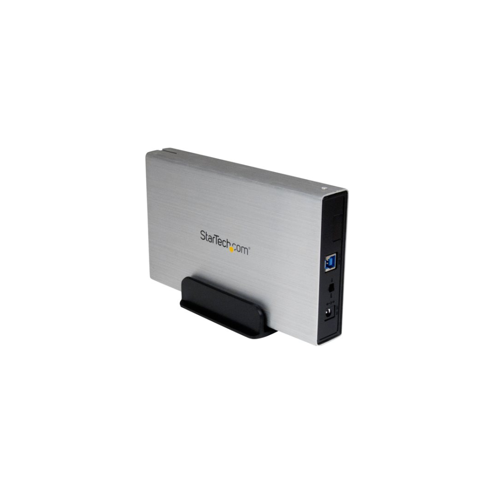 A large main feature product image of Startech 3.5in USB 3.0 External SATA Hard Drive Enclosure w/ UASP - Silver