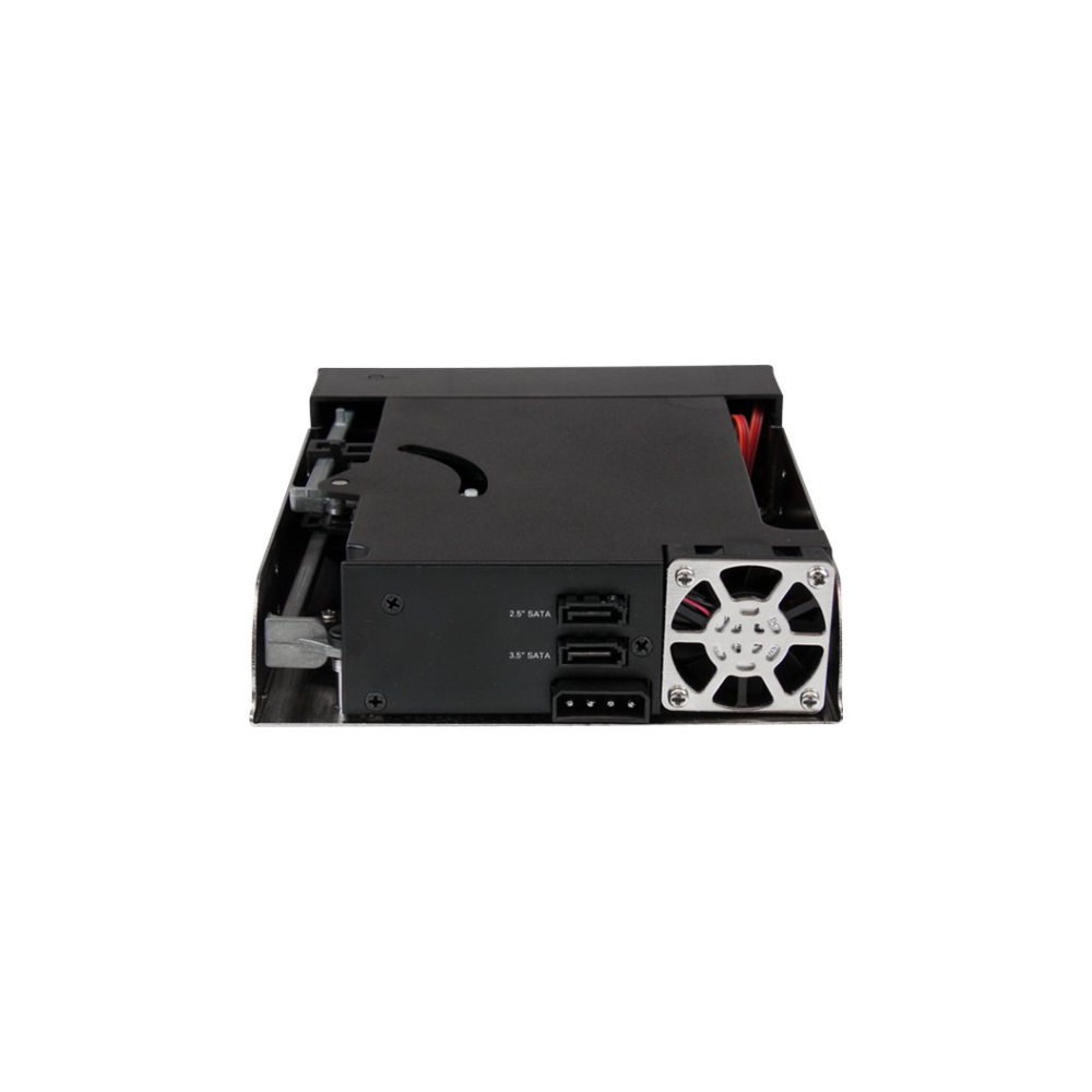 """A large main feature product image of Startech Dual Bay 5.25"""" Trayless Hot Swap Mobile Rack Backplane"""